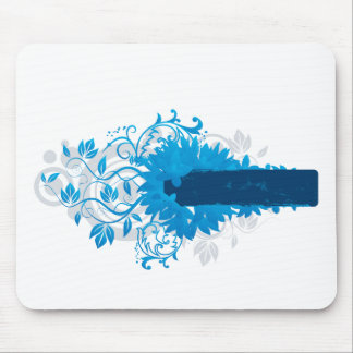 Flowers_frame-blue Mouse Pad
