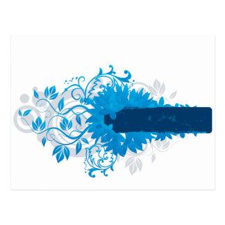 Flowers_frame-blue Postcard