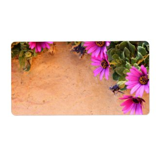 Flowers frame shipping label