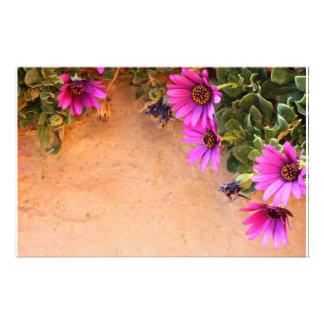 Flowers frame stationery