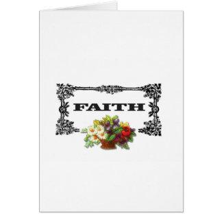 flowers framed in faith card