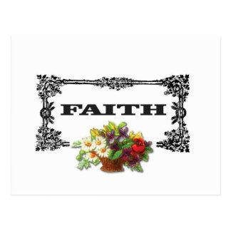 flowers framed in faith postcard
