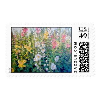 Flowers from a Catalog Postage Stamp
