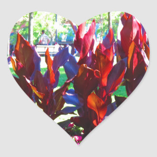Flowers from Boston City Colorful Parks n Gardens Heart Sticker