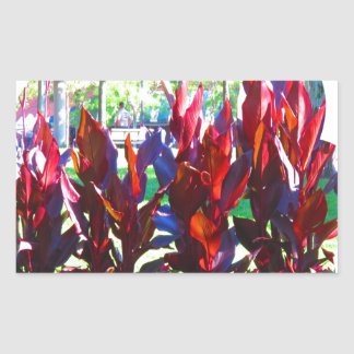 Flowers from Boston City Colorful Parks n Gardens Rectangular Sticker