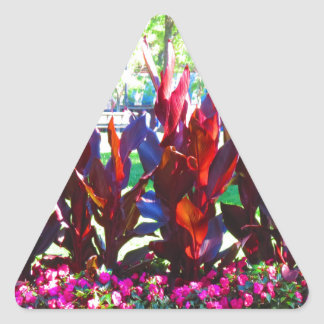 Flowers from Boston City Colorful Parks n Gardens Triangle Sticker
