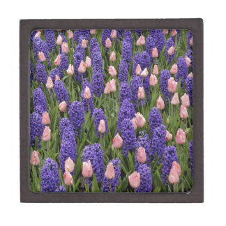 Flowers from Holland, hyacinths and pink tulips Premium Trinket Box