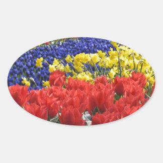 Flowers from Holland, Keukenhof Oval Sticker