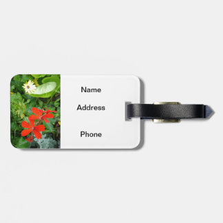 Flowers from my garden luggage tag