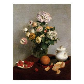 Flowers & Fruit by Henri Fantin-Latour Postcard