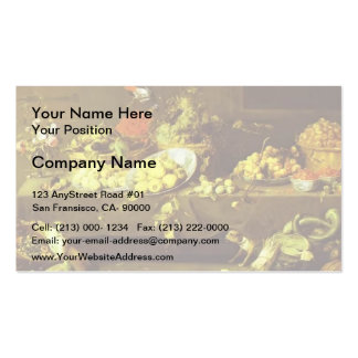 Flowers, Fruits and Vegetables by Frans Snyders Business Card Template