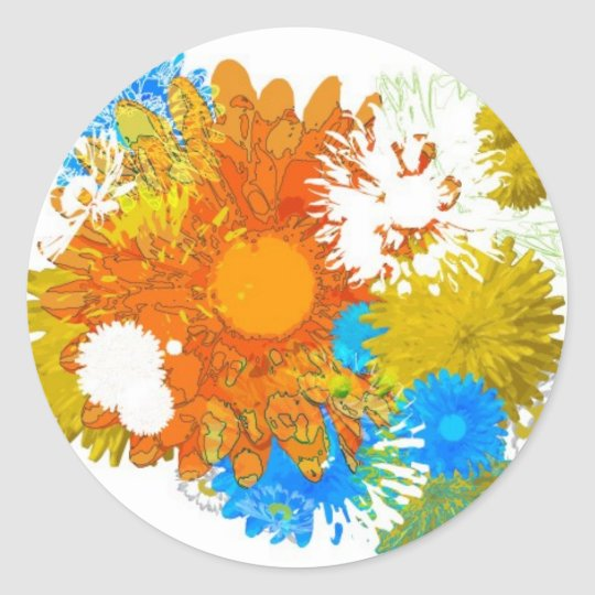 Flowers Galore Classic Round Sticker