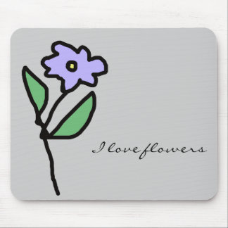 flowers . garden mouse pad