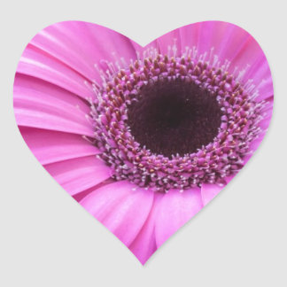 Flowers Gerbera  Roses Personalize Blossoms Heart Sticker
