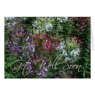 Flowers - Get Well Soon! Card