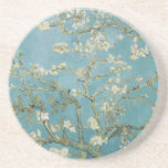 Flowers Gogh Branches Almond Blossoms Nature Coaster