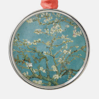 Flowers Gogh Branches Almond Blossoms Nature Metal Ornament