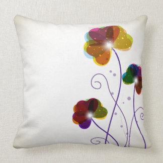 Flowers Grade A Cotton Throw Pillow 20x20