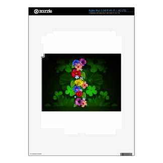 flowers Green Items iPad 3 Decal