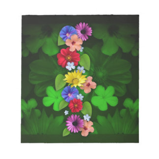flowers Green Items Notepad