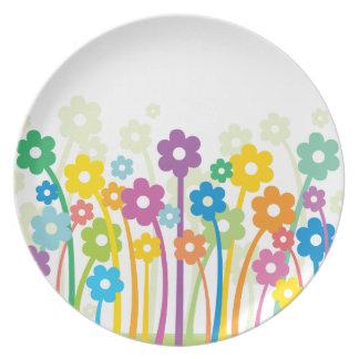 Flowers Happy2 Dinner Plates