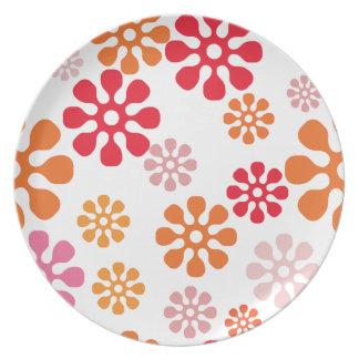 Flowers Happy Pattern Dinner Plates