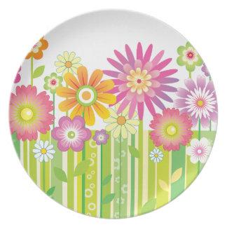 Flowers Happy Plate