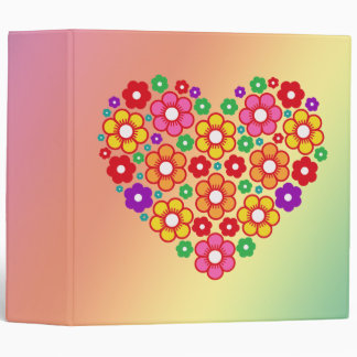 "FLOWERS HEART 2"" Ring Binder"