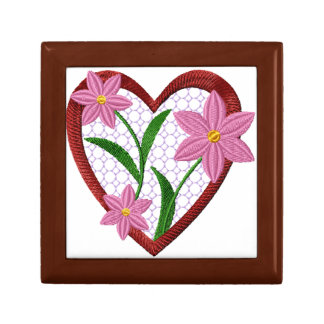 Flowers Heart Gift Box