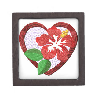 Flowers  Heart Gift Box Premium Keepsake Boxes