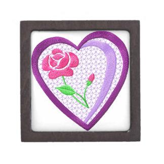 Flowers  Heart Gift Box Premium Trinket Boxes