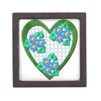 Flowers  Heart Gift Box Premium Trinket Box