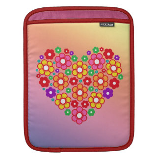 FLOWERS HEART iPad Sleeve