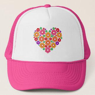 FLOWERS HEART TRUCKER HAT