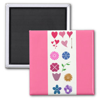 Flowers & Hearts Magnet