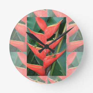 Flowers Heliconia Bamboo from Costa Rica Love Gift Clocks