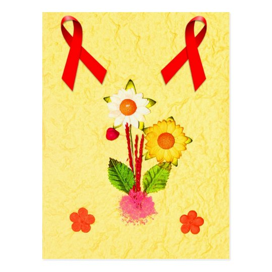 Flowers  ( HIV / AIDS Charity ) Postcard