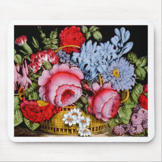 Flowers in a Basket Circa 1872 Mouse Pad