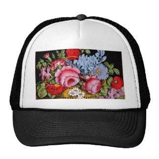 Flowers in a Basket Circa 1872. Trucker Hat