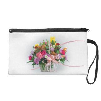 Flowers in a Basket Wristlet Purse