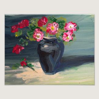 Flowers in a Black Vase Photo Print