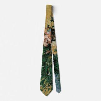 Flowers in a Blue Vase by Paul Cezanne Vintage Art Neck Tie