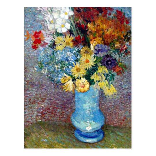 225 & Vincent Van Gogh Flowers In A Blue Vase - Flowers Healthy
