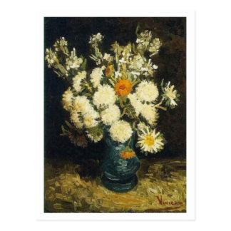 Flowers in a Blue Vase, Vincent van Gogh Postcard