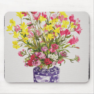 Flowers in a Chinese Jar Mouse Pad