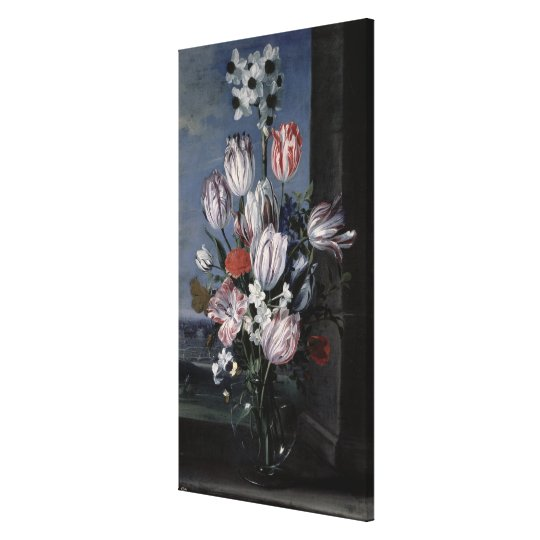 Flowers in a Crystal Vase, 1652 Canvas Print