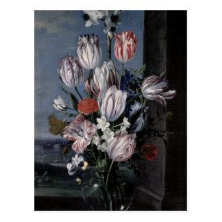 Flowers in a Crystal Vase, 1652 Postcard