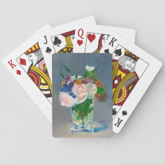 Flowers in a Crystal Vase by Manet Playing Cards