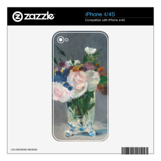 Flowers in a Crystal Vase, c.1882 (oil on canvas) Decals For The iPhone 4