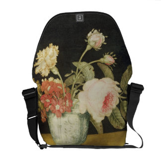 Flowers in a Delft Jar (oil on panel) Courier Bag